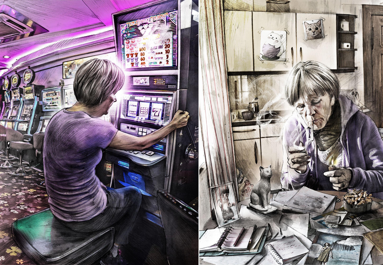 Spielucht Casino - Kornel Illustration | Kornel Stadler portfolio