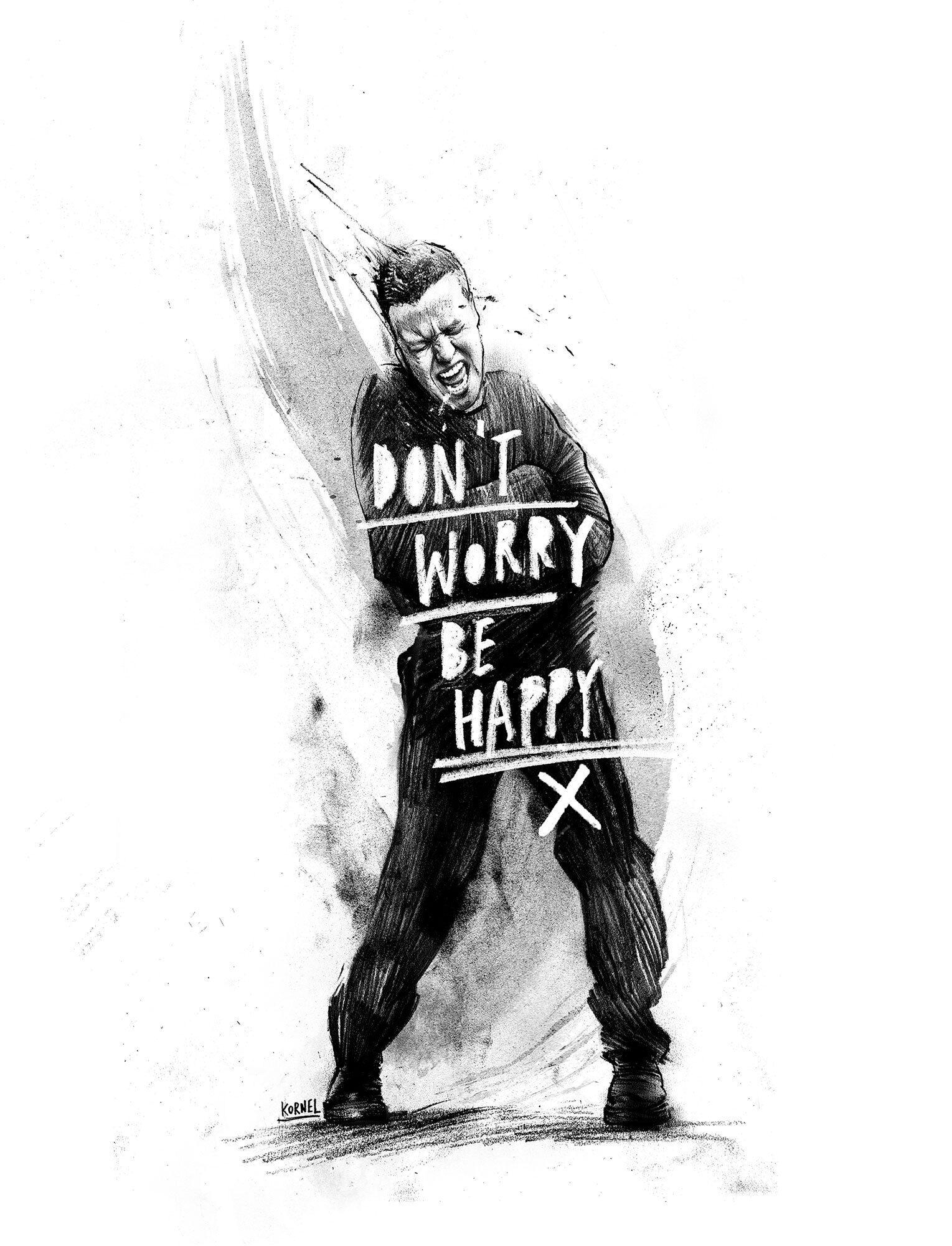 Be happy artwork - Kornel Illustration | Kornel Stadler portfolio