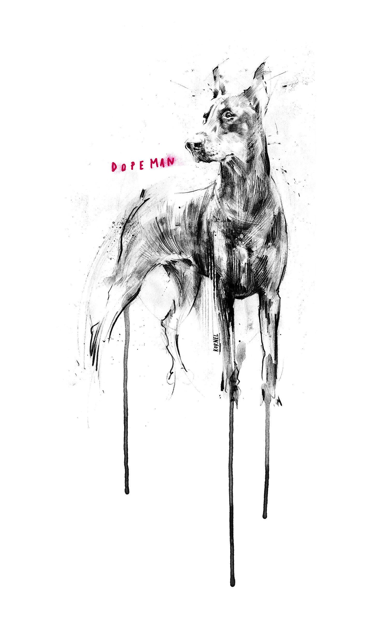 Dopeman - Kornel Illustration | Kornel Stadler portfolio