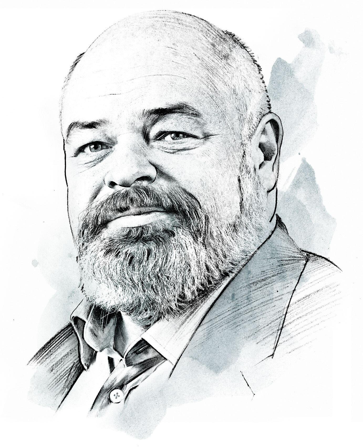 Dr Harry Telser portrait illustration - Kornel Illustration   Kornel Stadler portfolio