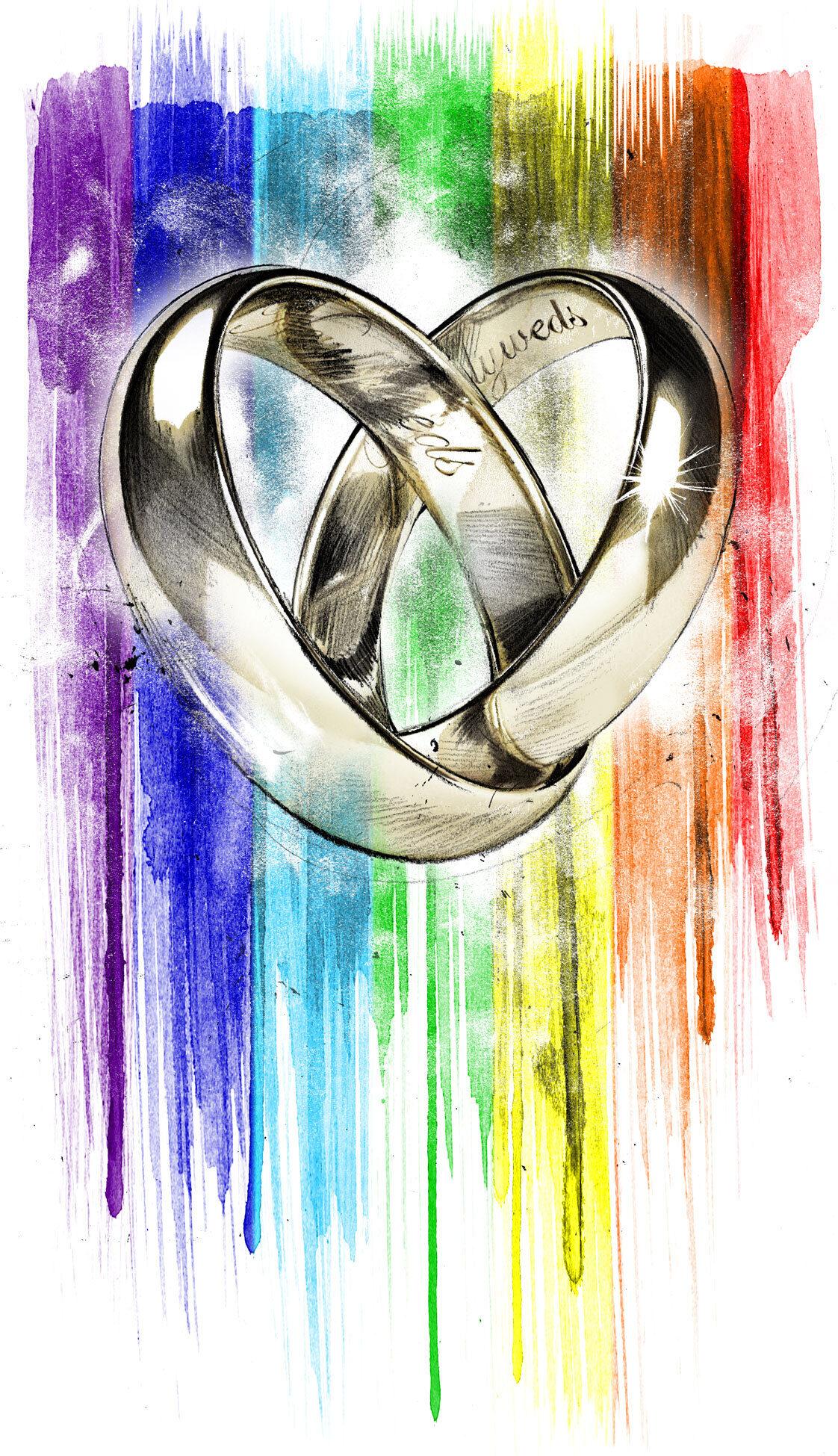 Same sex marriage - Kornel Illustration | Kornel Stadler portfolio
