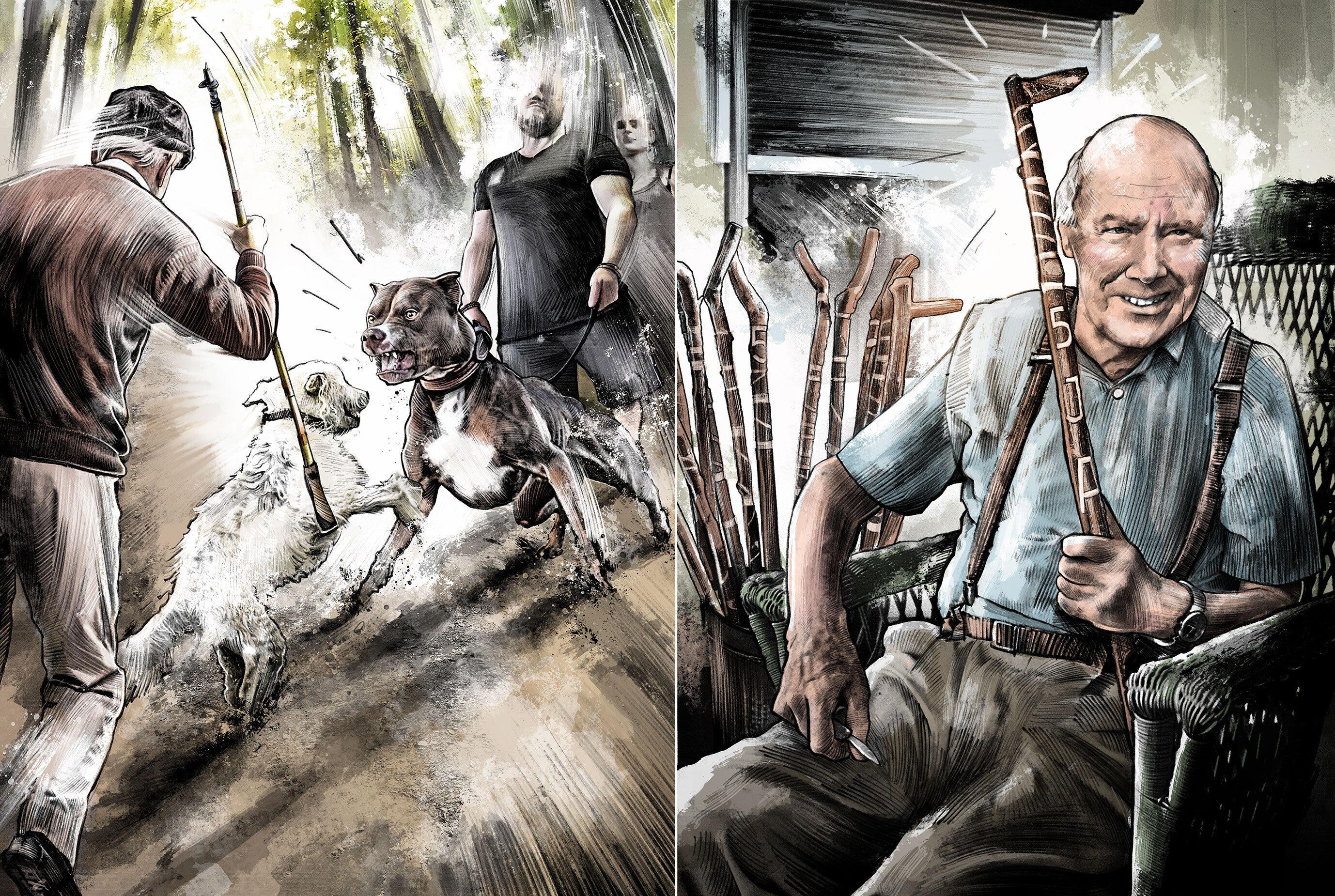 Dogfight - Kornel Illustration | Kornel Stadler portfolio