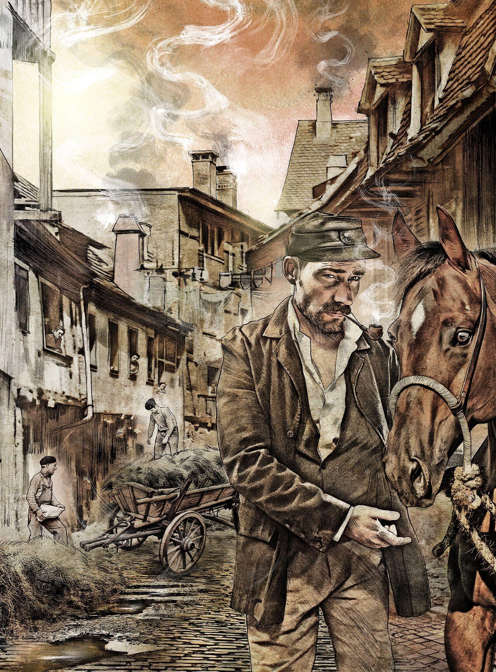 History illustration horse street basel - Kornel Illustration   Kornel Stadler portfolio