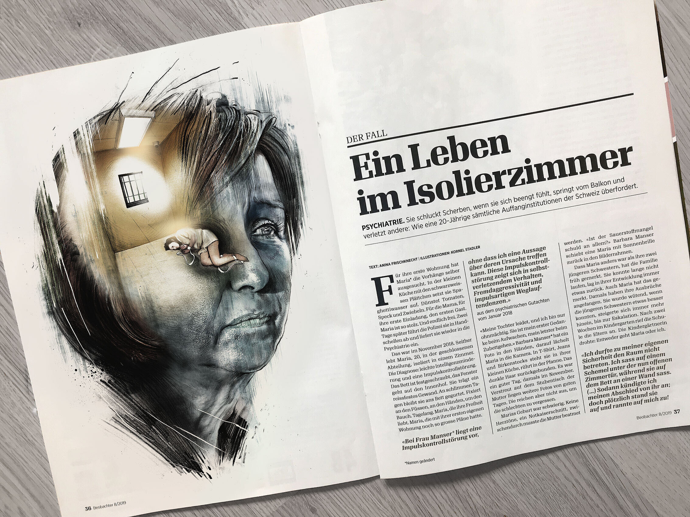 Editorial illustration isolation - Kornel Illustration   Kornel Stadler portfolio