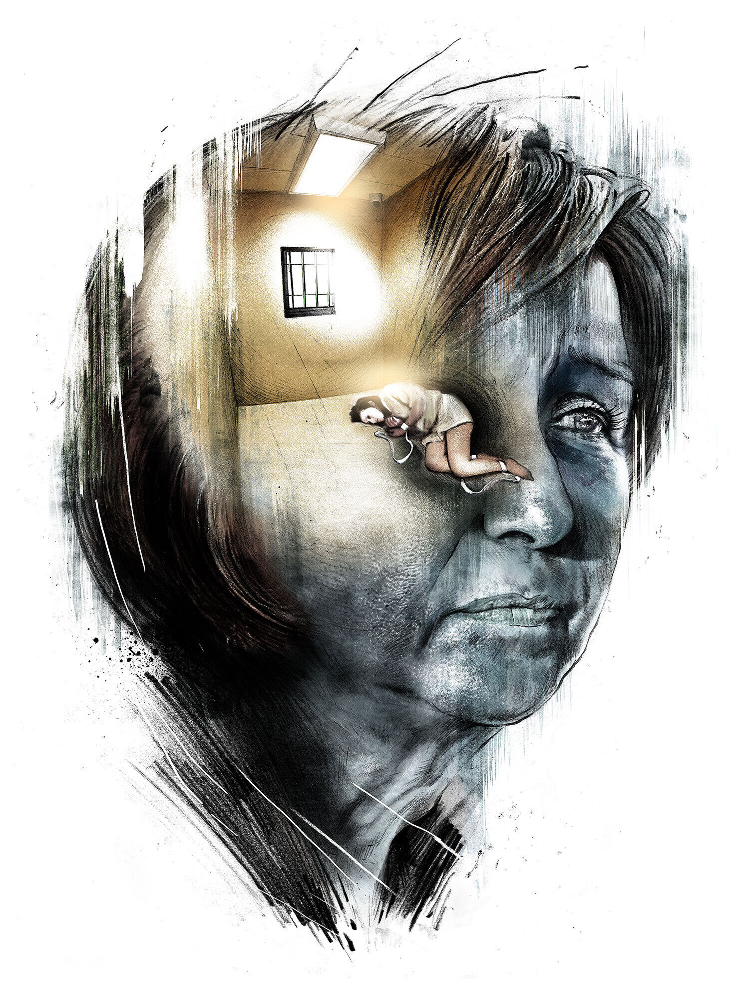 Psychiatrie isolation illustration - Kornel Illustration   Kornel Stadler portfolio