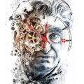 Client Arbeit Swarch uhr nick hayek portait illustration uhrwek clockwork swiss smi Kornel Illustration | Kornel Stadler