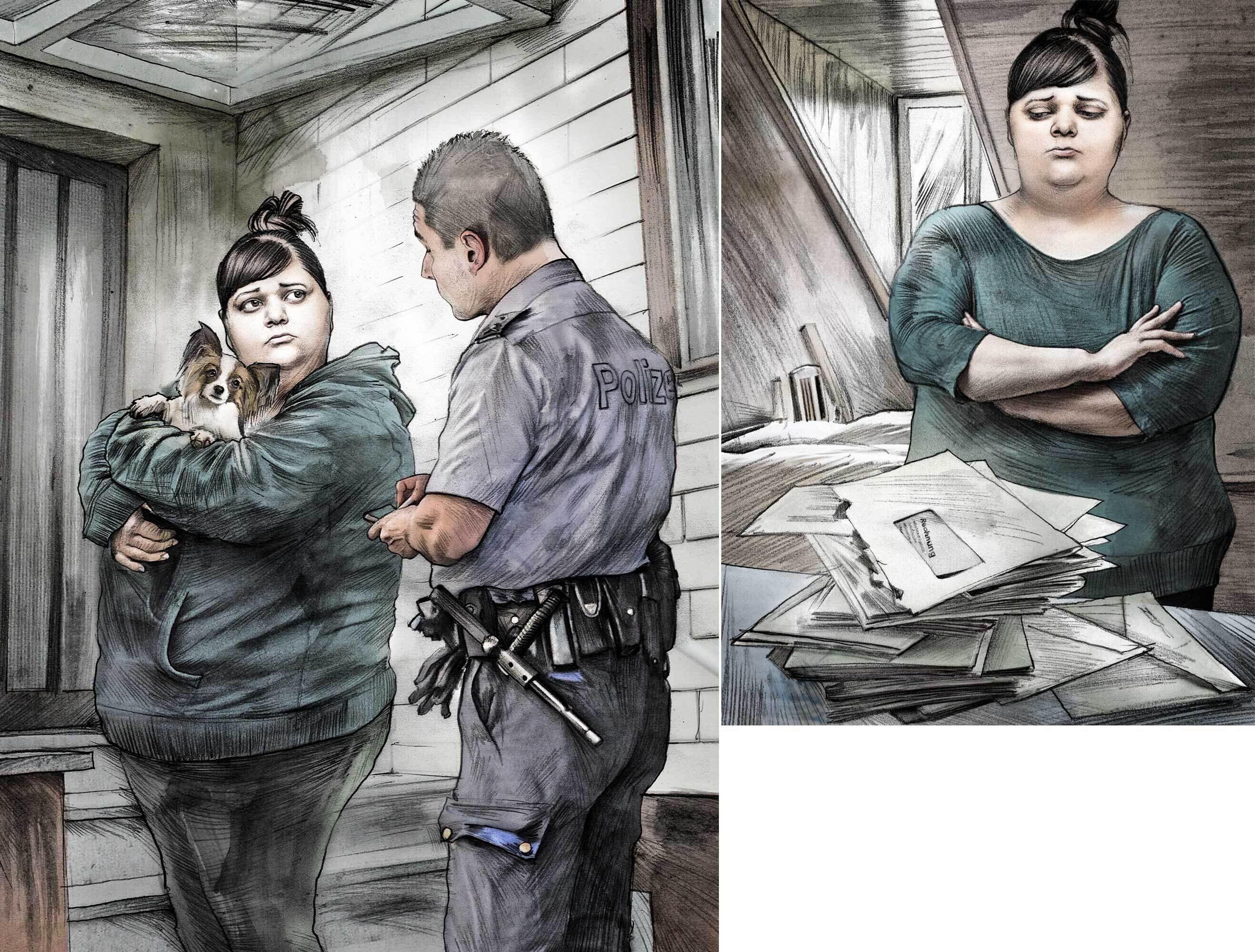 Illustration polizei schulden - Kornel Illustration   Kornel Stadler portfolio
