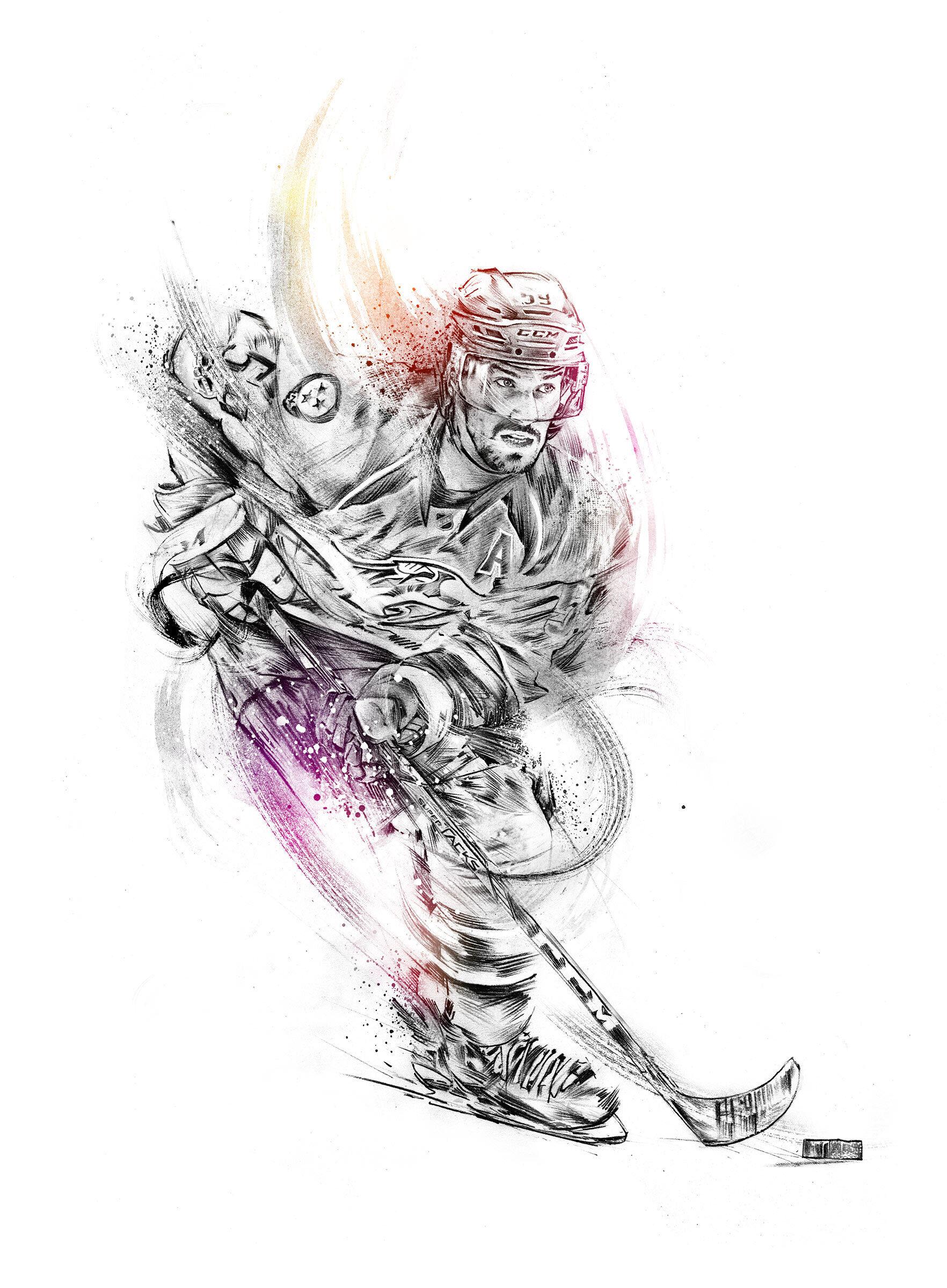 Eishockey sport illustration - Kornel Illustration   Kornel Stadler portfolio