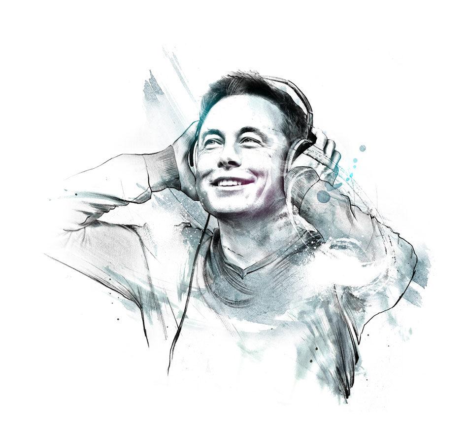 Elon Music - Kornel Illustration | Kornel Stadler portfolio