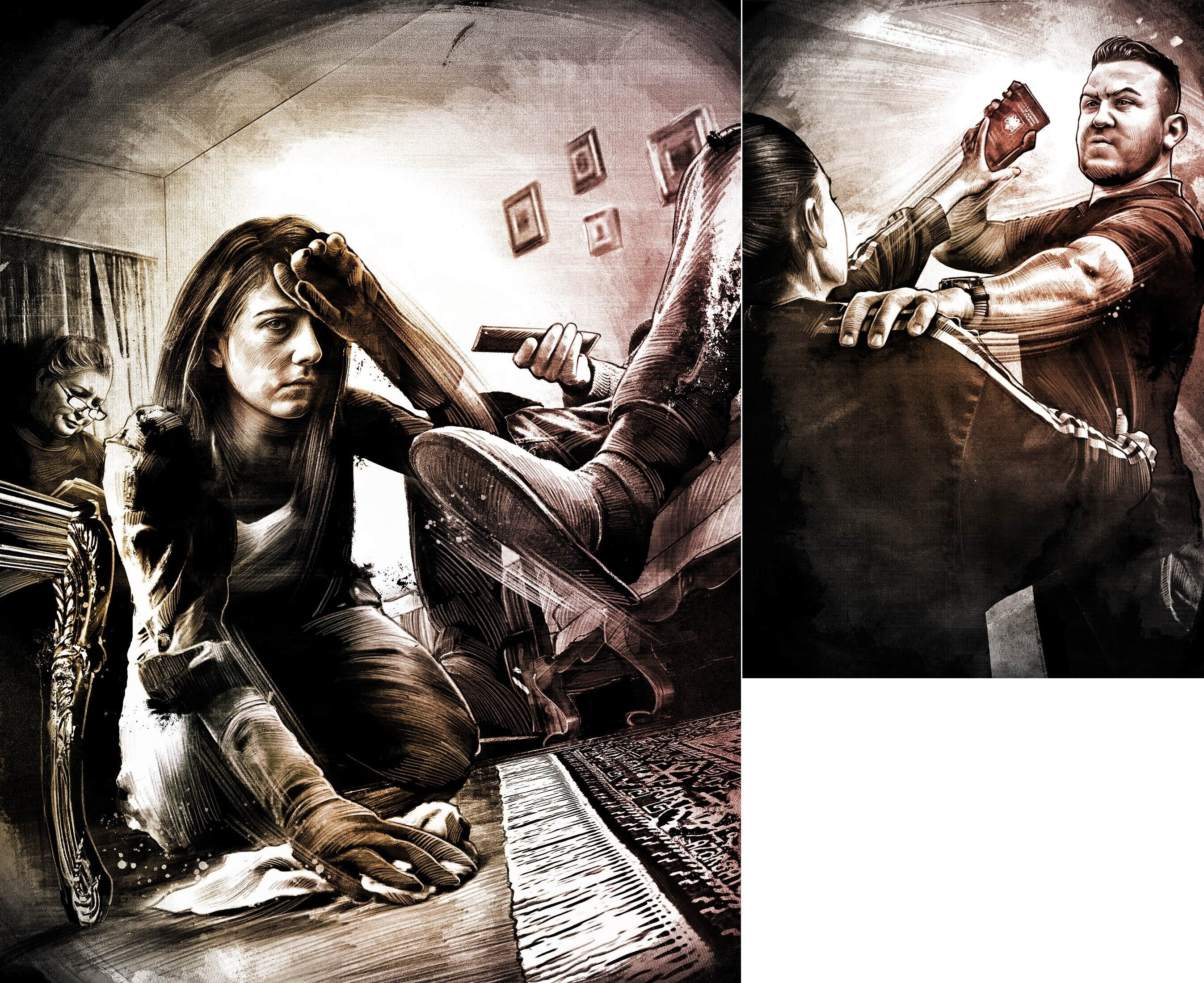 Beobachter Illustration Kosovo Familie streit magazine woman - Kornel Illustration | Kornel Stadler portfolio