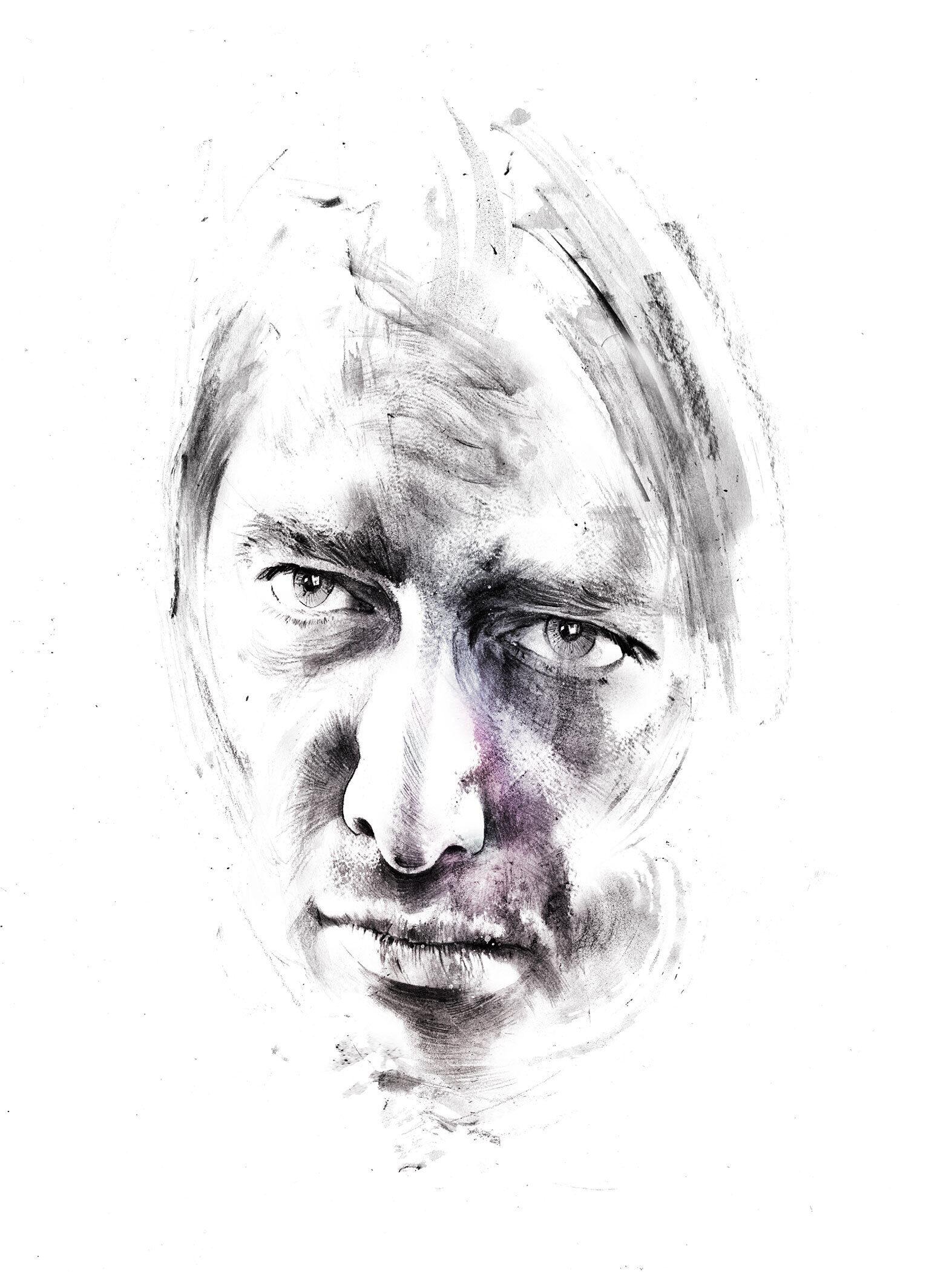 Face drawing - Kornel Illustration | Kornel Stadler portfolio