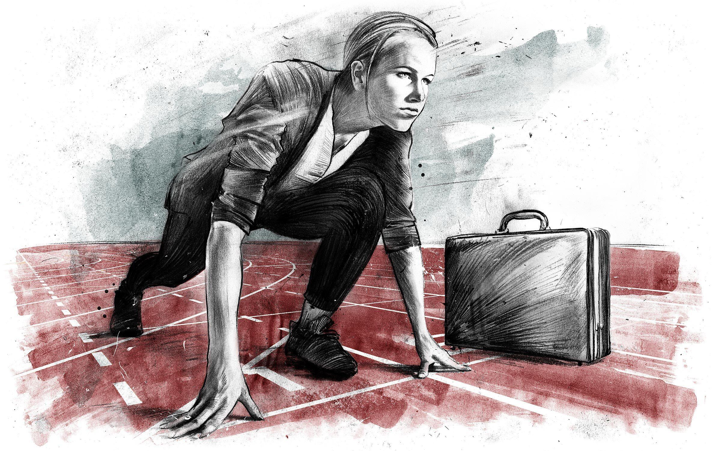 Women carreer illustration editorial - Kornel Illustration | Kornel Stadler portfolio