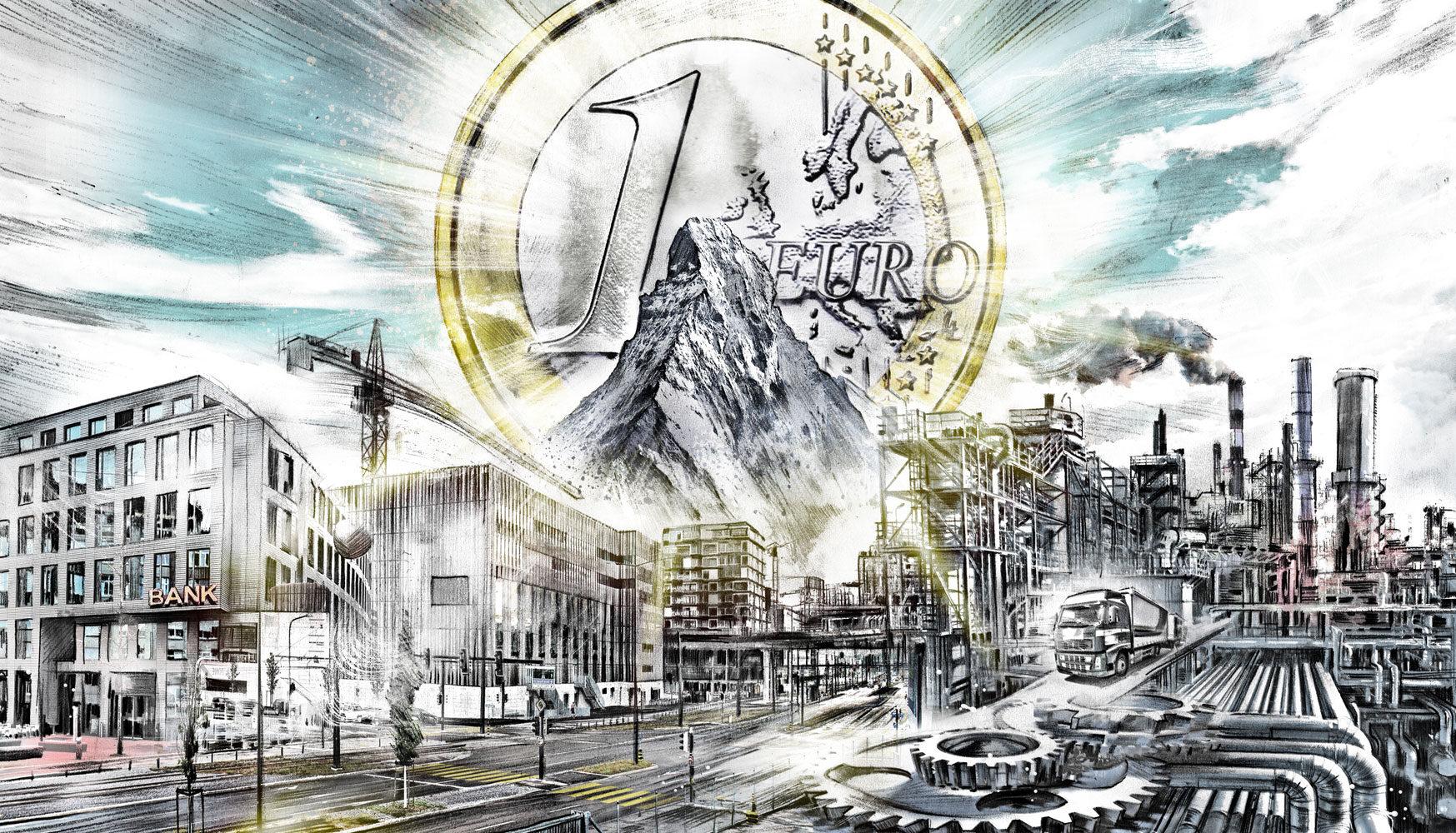 Wirtschaftsprognose 2018 - Kornel Illustration | Kornel Stadler portfolio