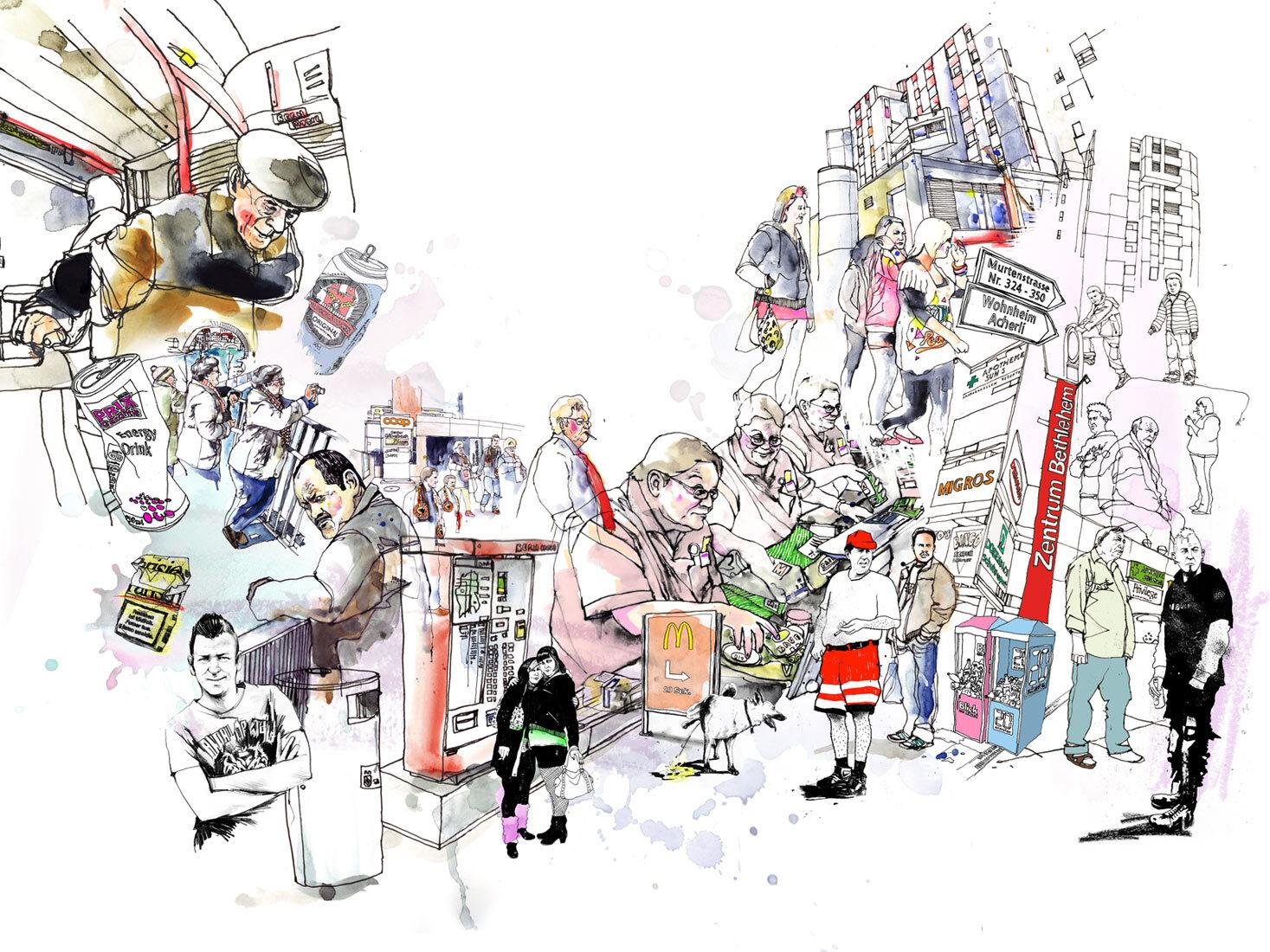 Berner Gesundheit - Kornel Illustration   Kornel Stadler portfolio