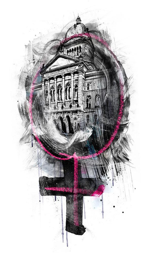Frauen Bundeshaus - Kornel Illustration | Kornel Stadler portfolio