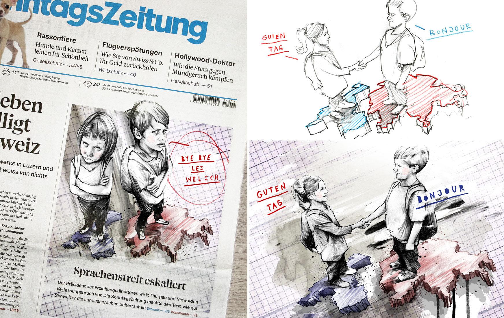 Sonntagszeitung - Kornel Illustration | Kornel Stadler portfolio