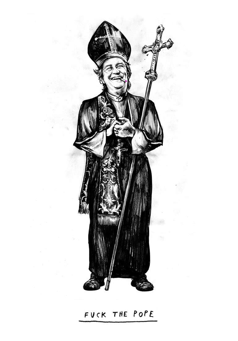Beda Papst Druck - Kornel Illustration | Kornel Stadler portfolio