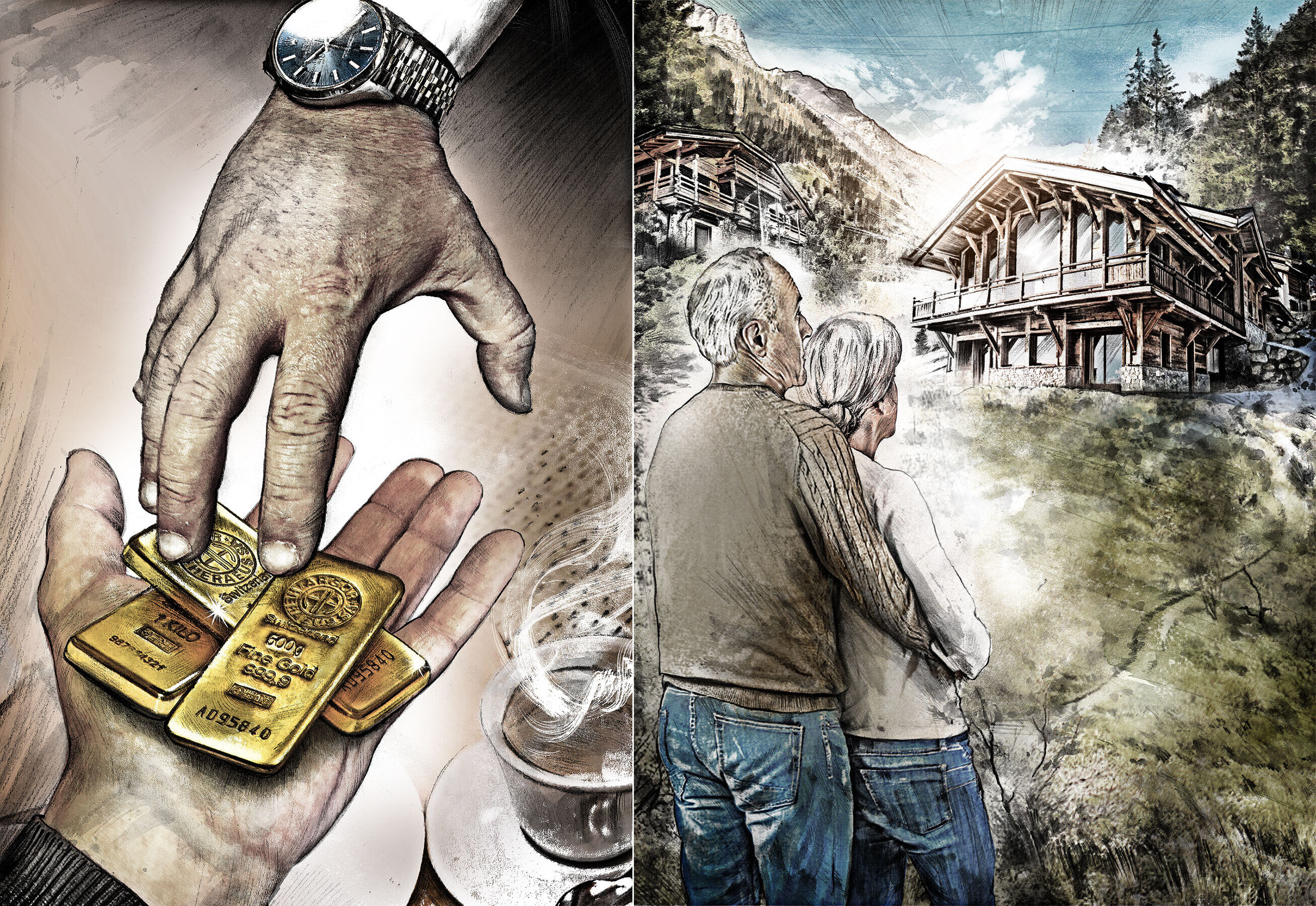 Wallis gold illustration - Kornel Illustration | Kornel Stadler portfolio