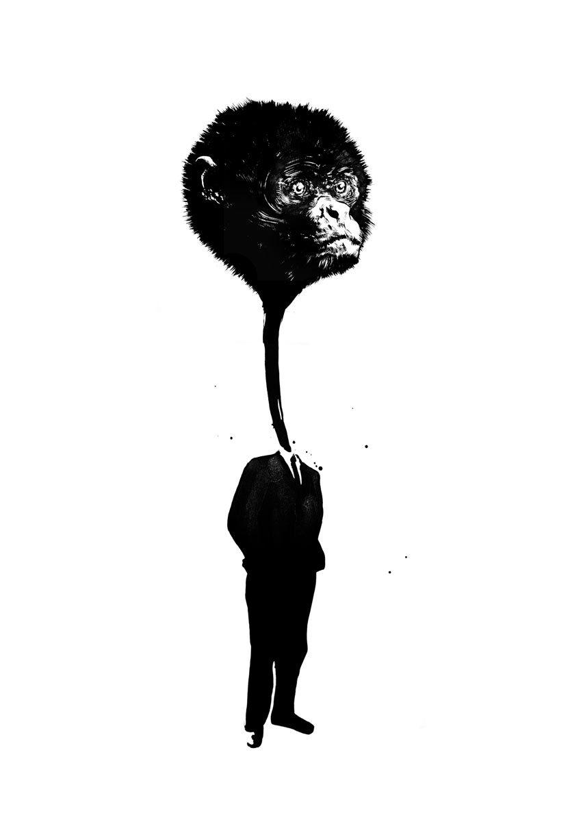 Gier Affe - Kornel Illustration | Kornel Stadler portfolio