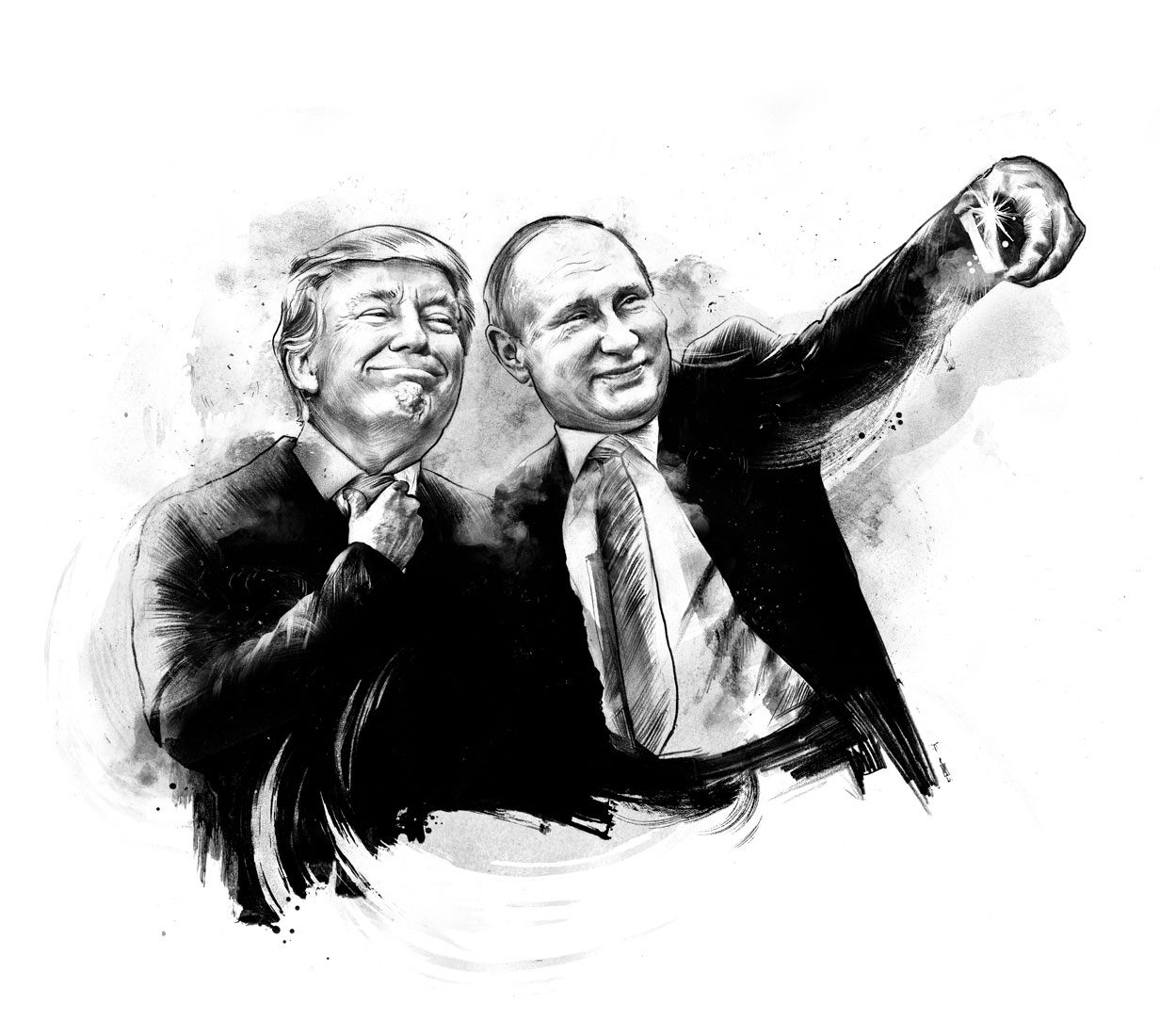Trump putin - Kornel Illustration | Kornel Stadler portfolio
