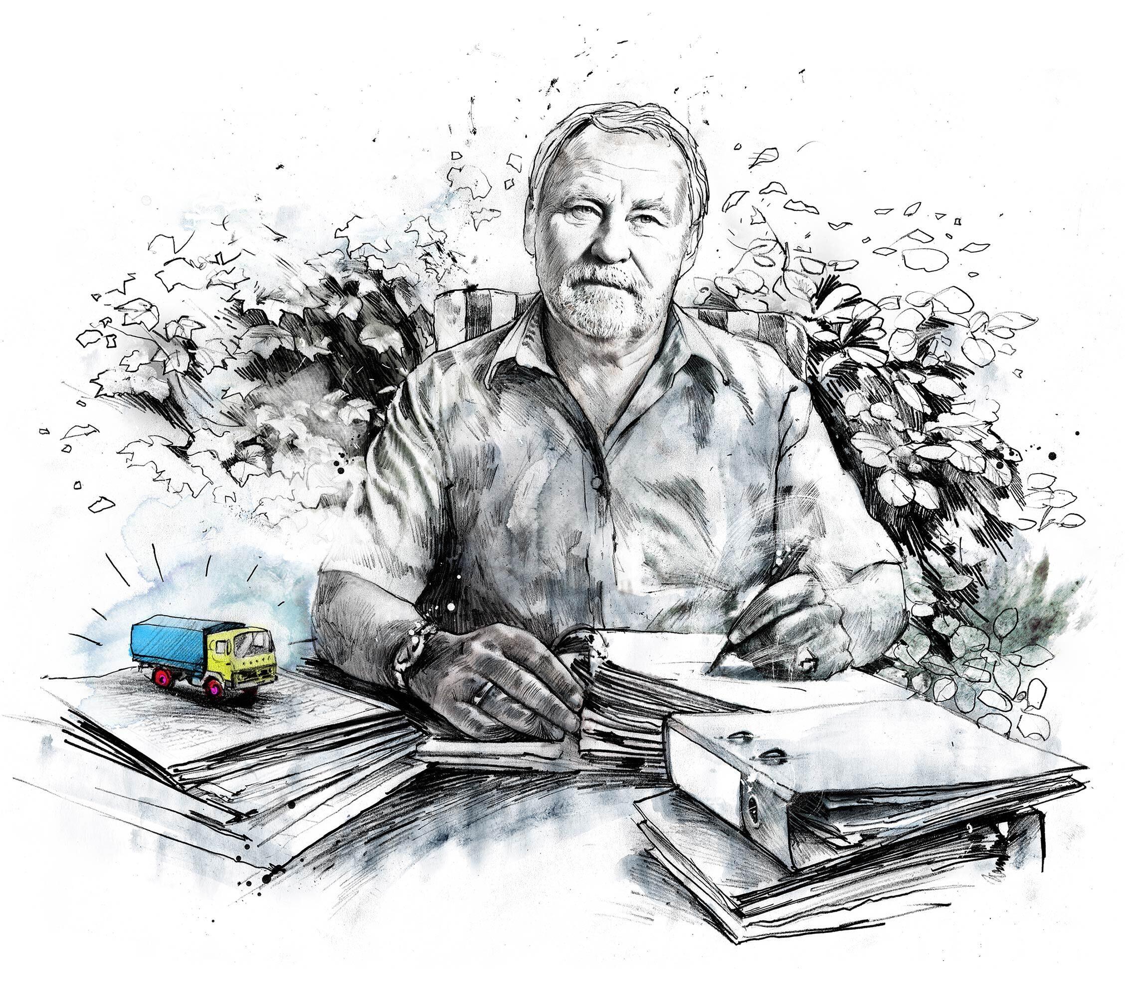 Hans Glor Illustration WOZ - Kornel Illustration   Kornel Stadler portfolio