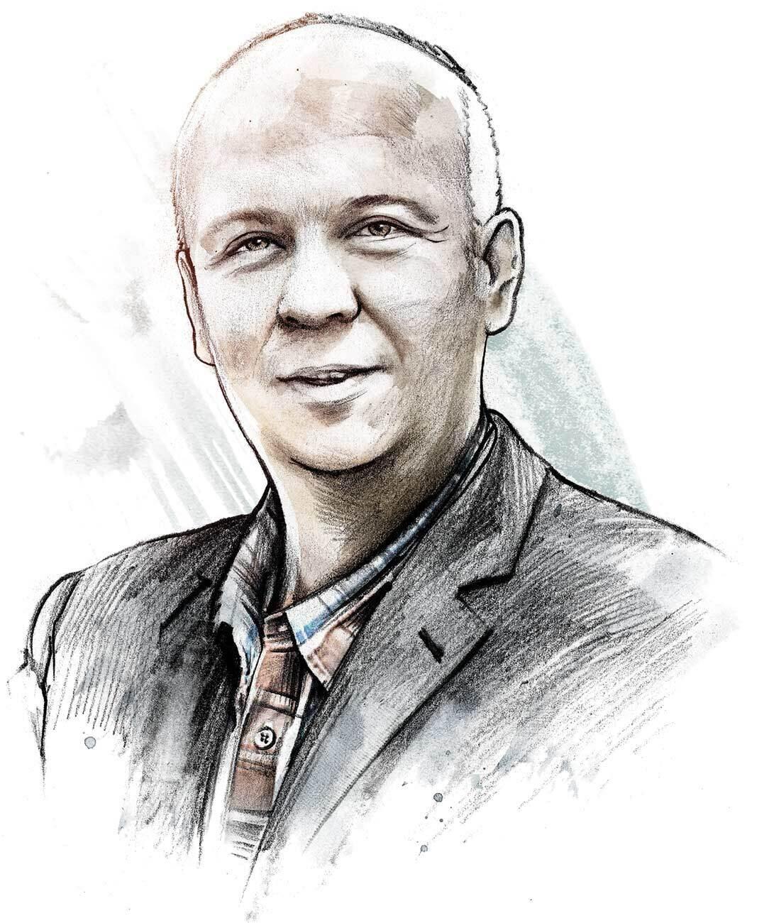 Spuhler Portrait illustration watercolor - Kornel Illustration | Kornel Stadler portfolio