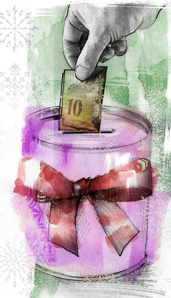 Spenden Schweiz Weihnachten Illustrtation - Kornel Illustration | Kornel Stadler portfolio
