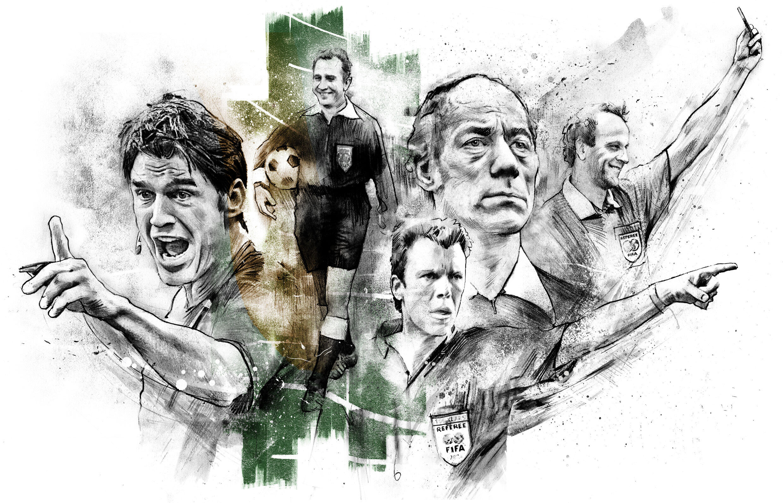 Referees illustration - Kornel Illustration | Kornel Stadler portfolio