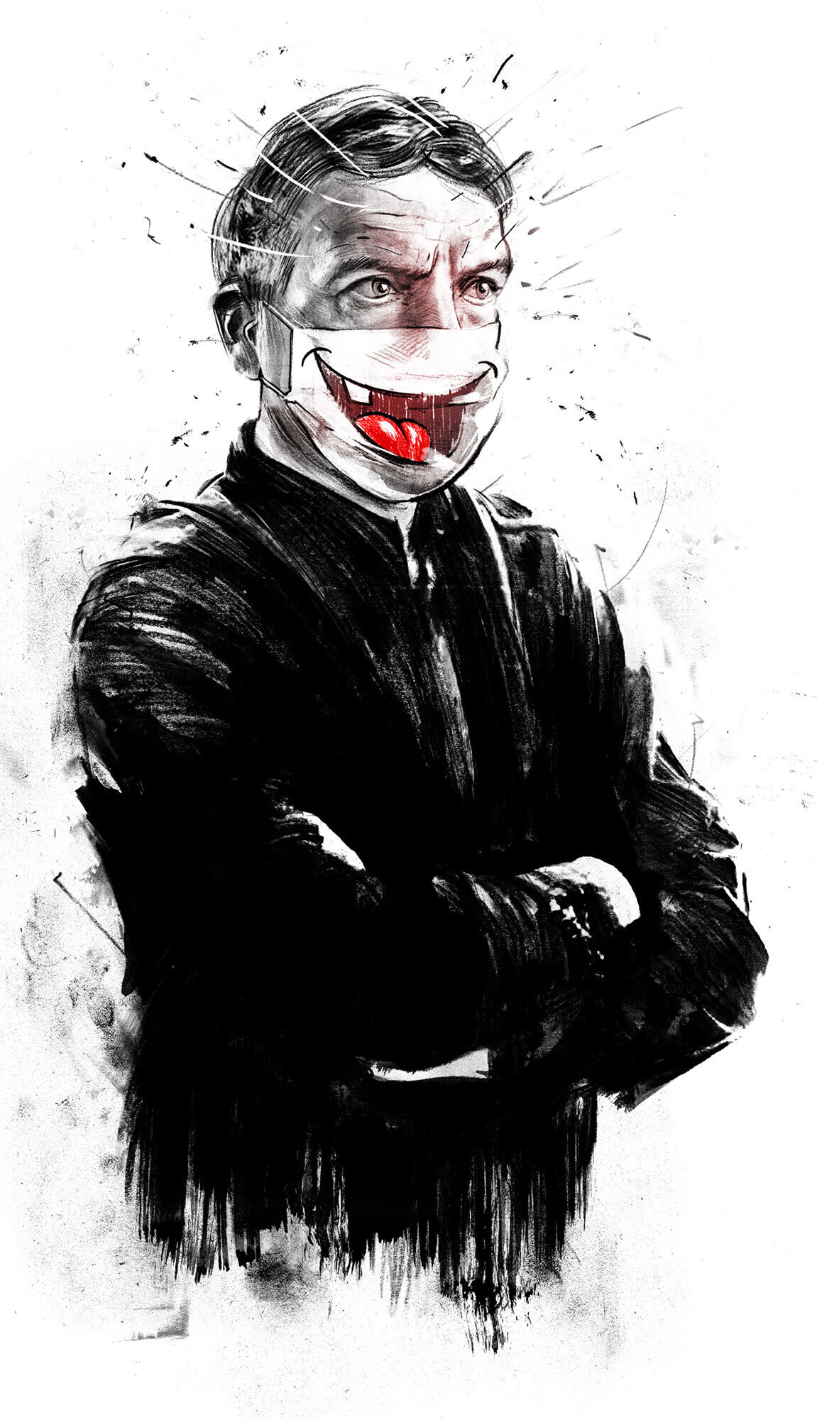 Corona smile - Kornel Illustration   Kornel Stadler portfolio