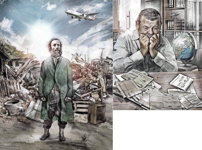 Messie pilot illustration story - Kornel Illustration | Kornel Stadler portfolio