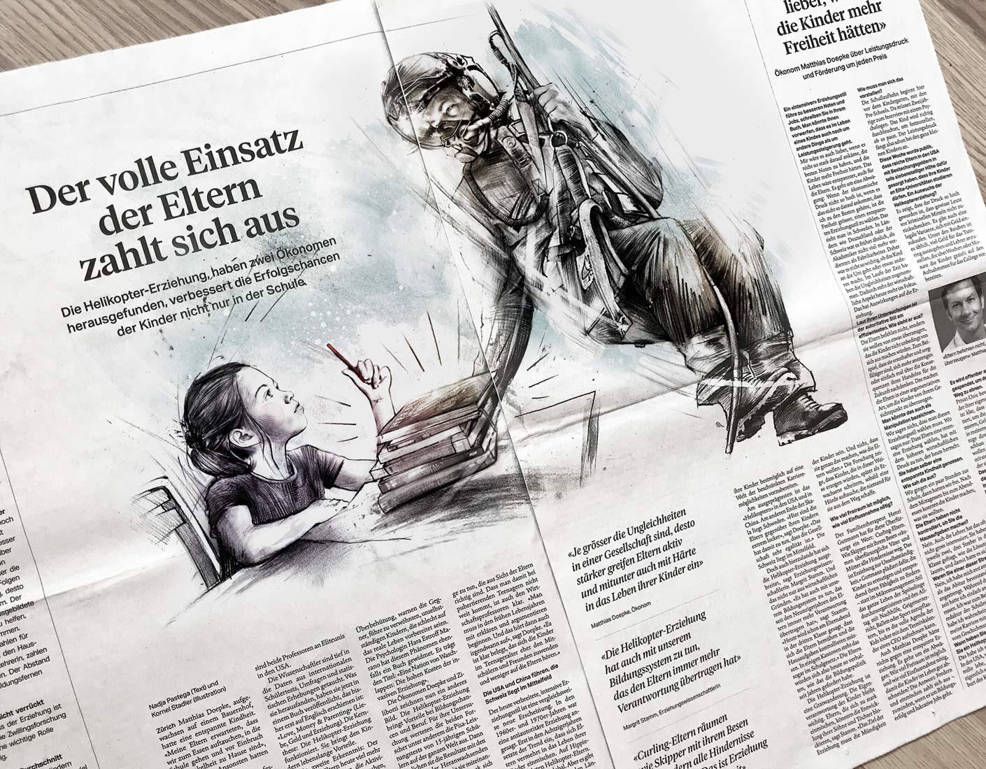 SZ Helikopter 2 - Kornel Illustration | Kornel Stadler portfolio