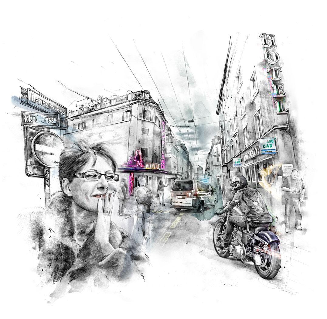 Langstrasse - Kornel Illustration | Kornel Stadler portfolio