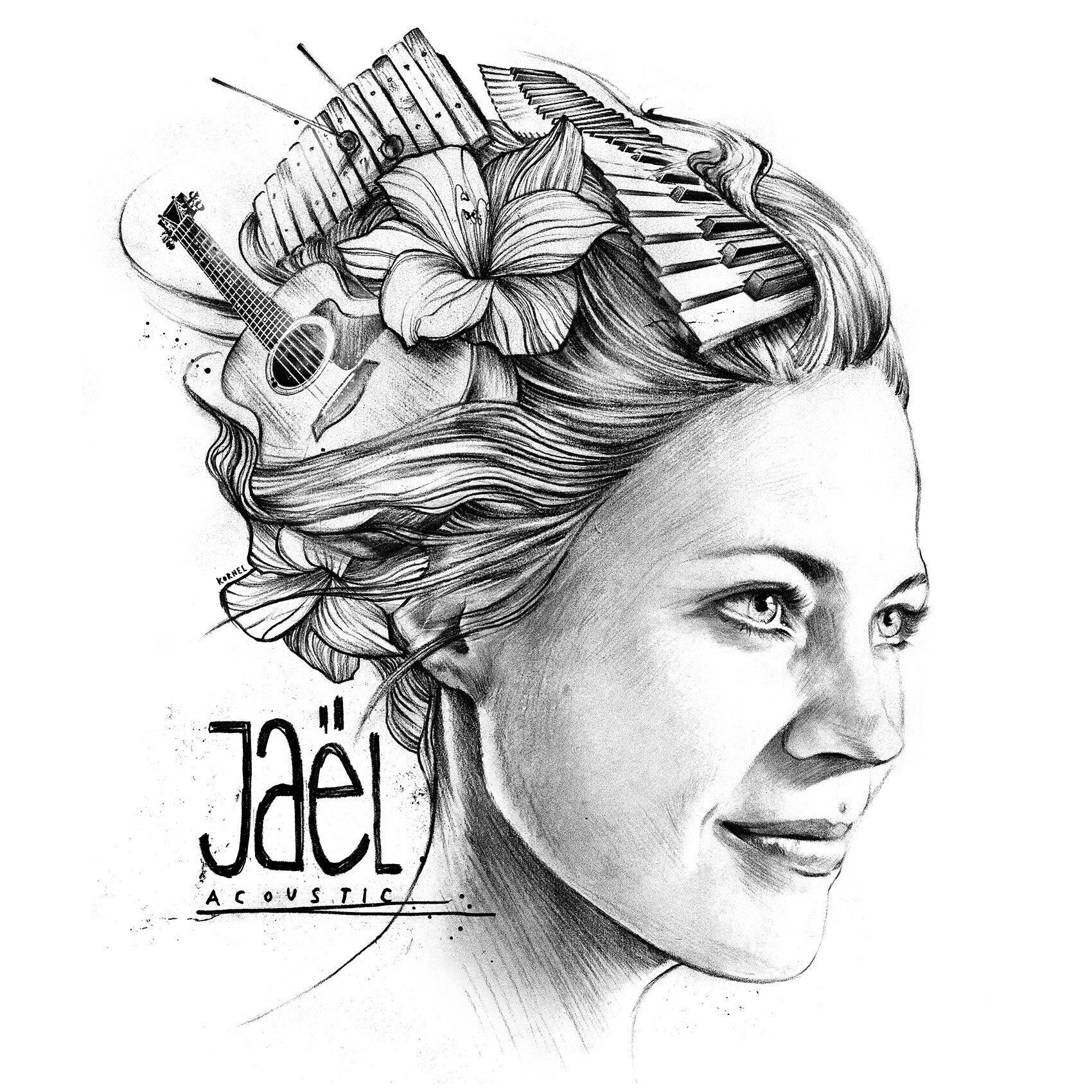 CD cover arwork jael acoustic - Kornel Illustration | Kornel Stadler portfolio