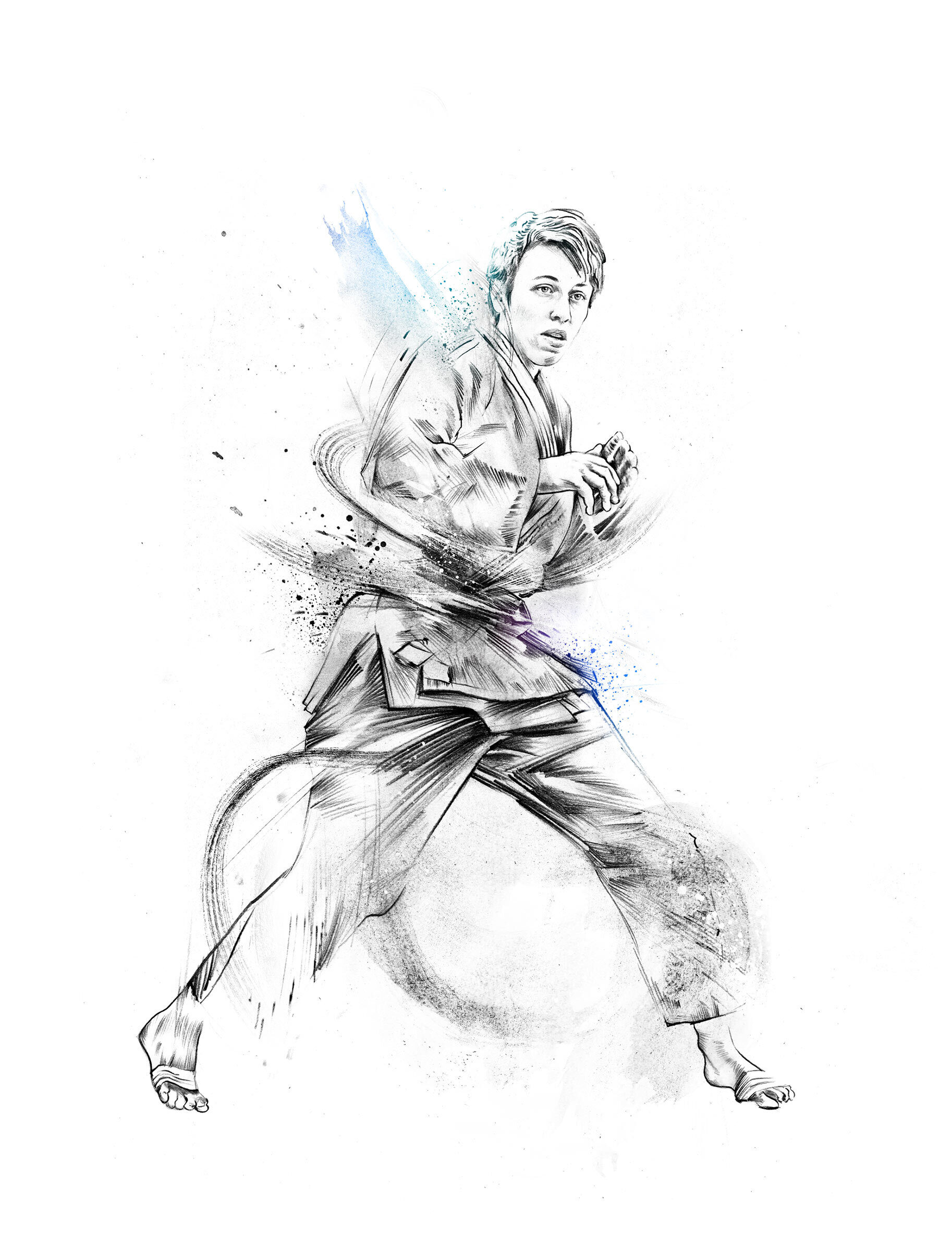 Judo sport illustration - Kornel Illustration | Kornel Stadler portfolio