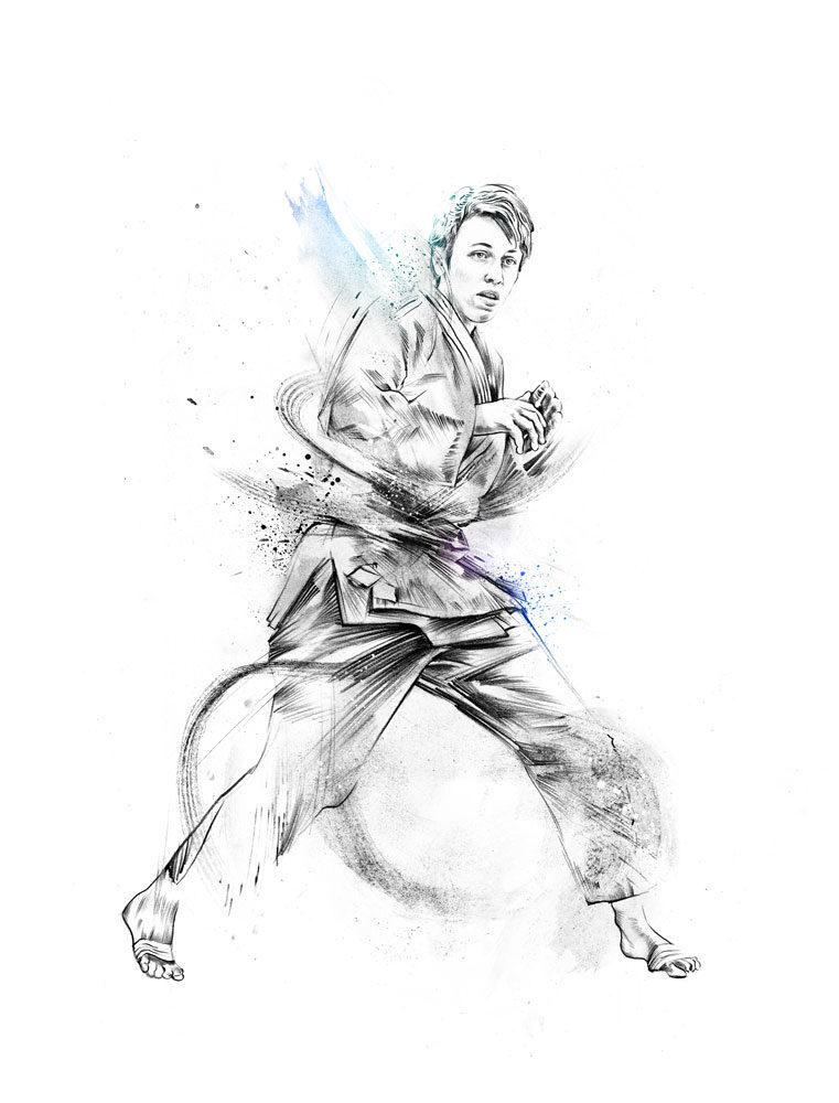 Judo - Kornel Illustration | Kornel Stadler portfolio