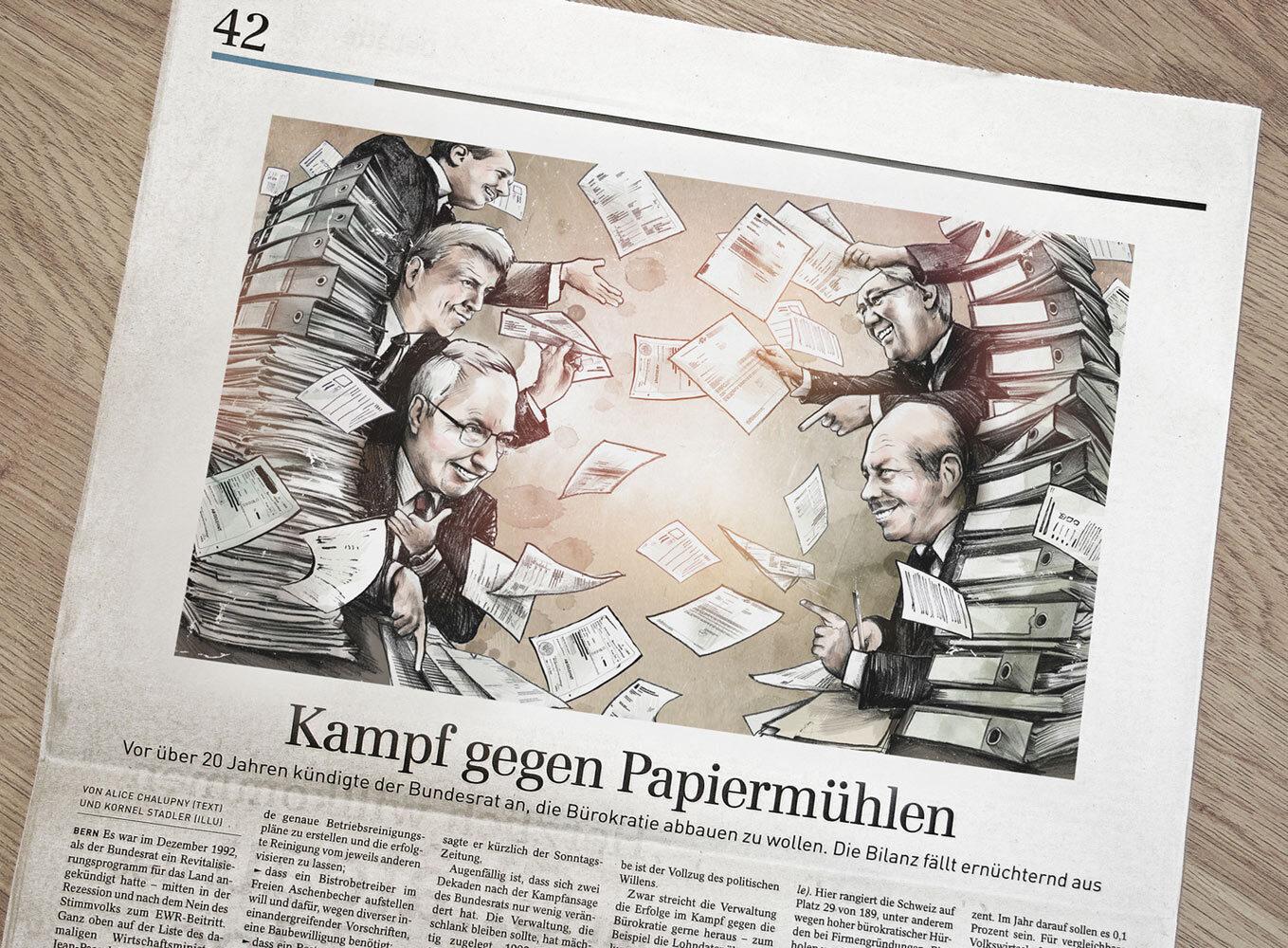 Foto SZ Burokratie - Kornel Illustration | Kornel Stadler portfolio