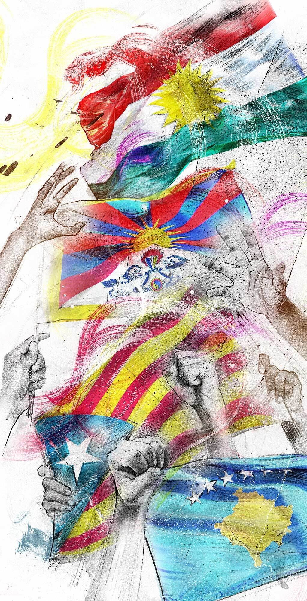 Flags liberty political illustration - Kornel Illustration | Kornel Stadler portfolio