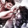 Client Arbeit Gewalt illustration familie kind schlagen mutter mother crime scene illustration drawing facetime Kornel Illustration | Kornel Stadler