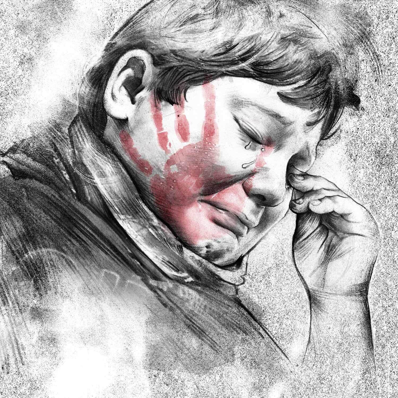 Junge kind ohrfeige traurig - Kornel Illustration | Kornel Stadler portfolio
