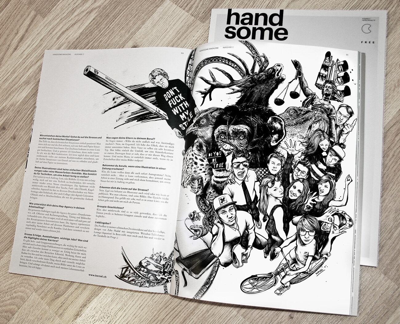 Foto hansome mag seite 3 - Kornel Illustration | Kornel Stadler portfolio