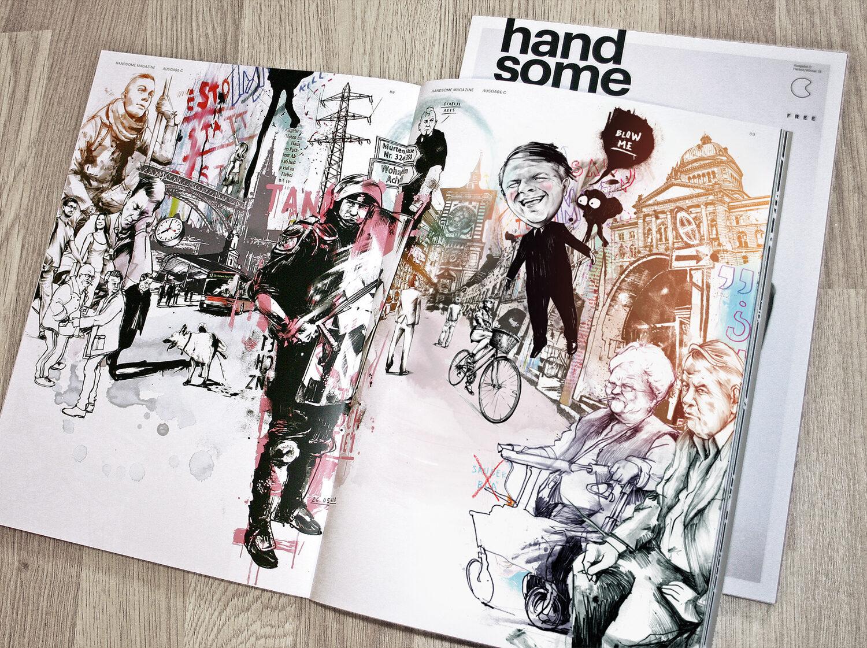 Foto doppelseite handsome - Kornel Illustration | Kornel Stadler portfolio