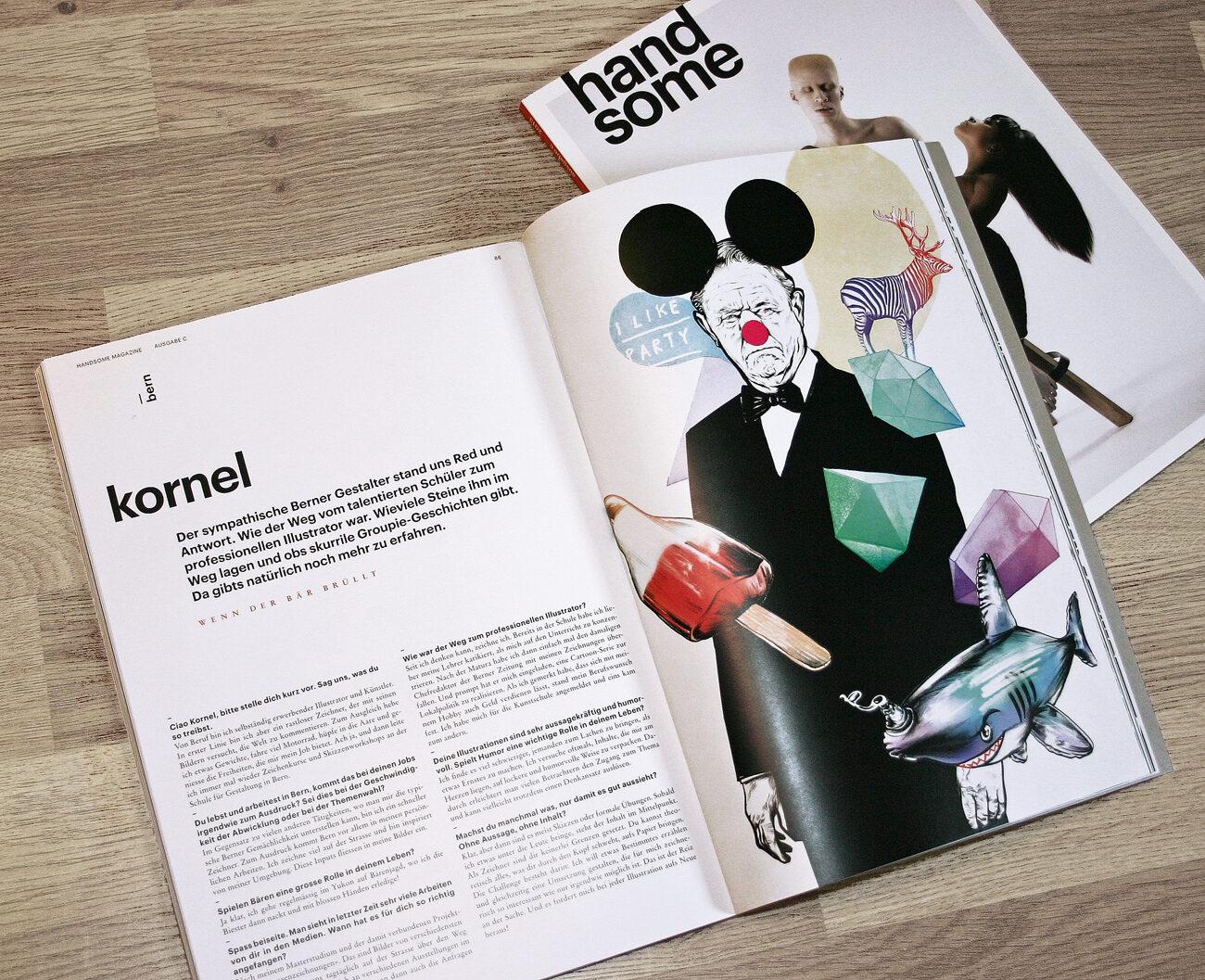 Hnadsome Mag 1 - Kornel Illustration | Kornel Stadler portfolio