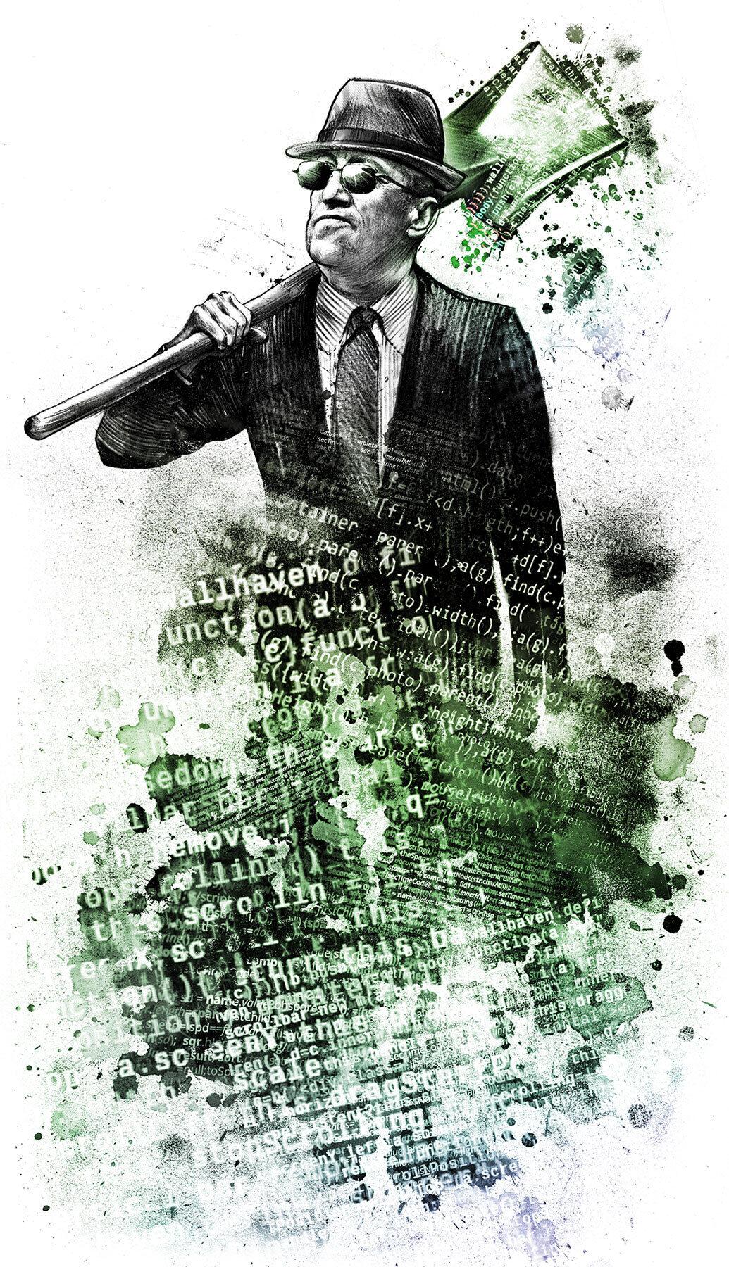 Secret service illustration editorial - Kornel Illustration | Kornel Stadler portfolio