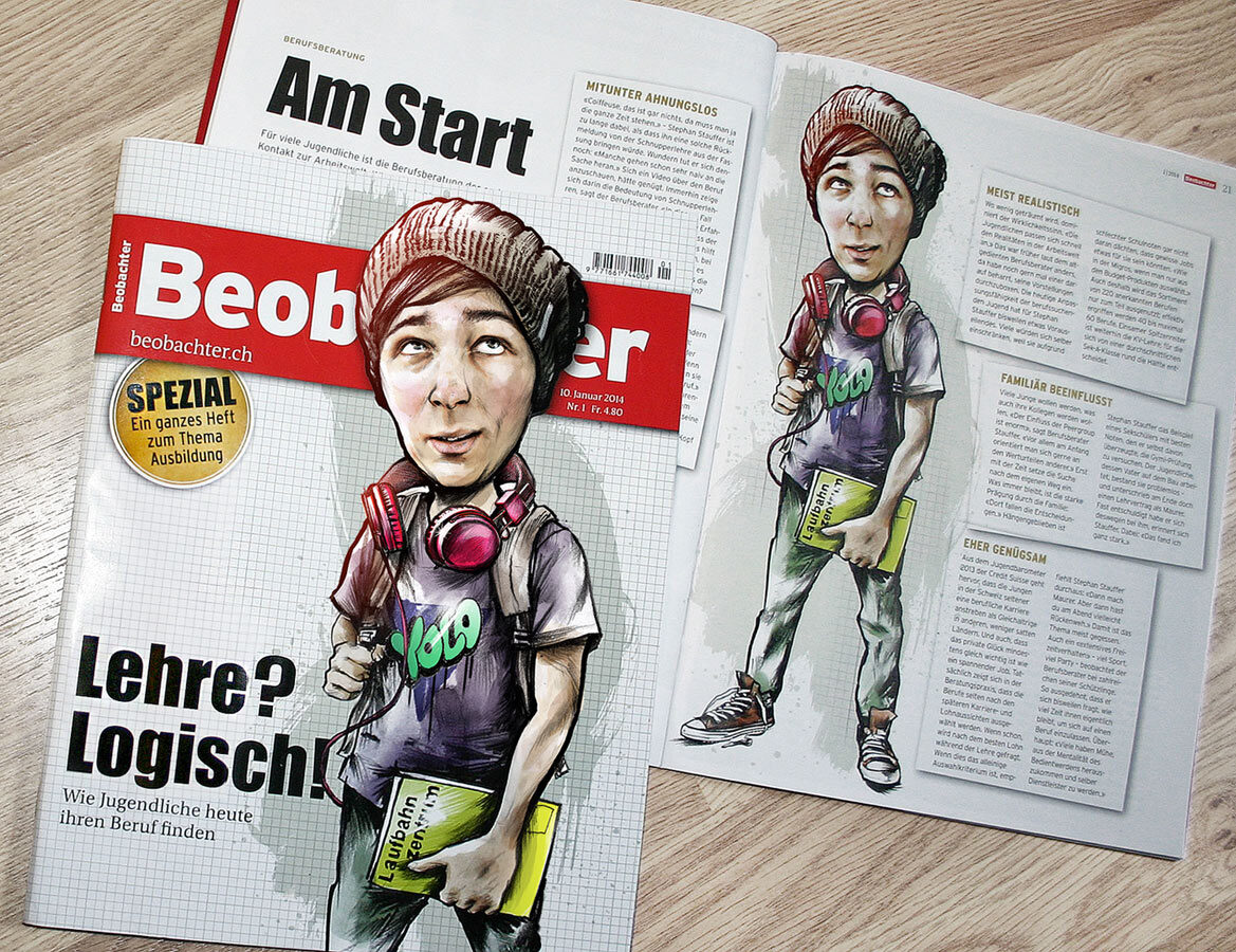 Bobachter Foto1 - Kornel Illustration | Kornel Stadler portfolio