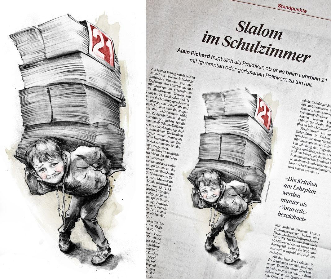 Lehrplan21 - Kornel Illustration | Kornel Stadler portfolio
