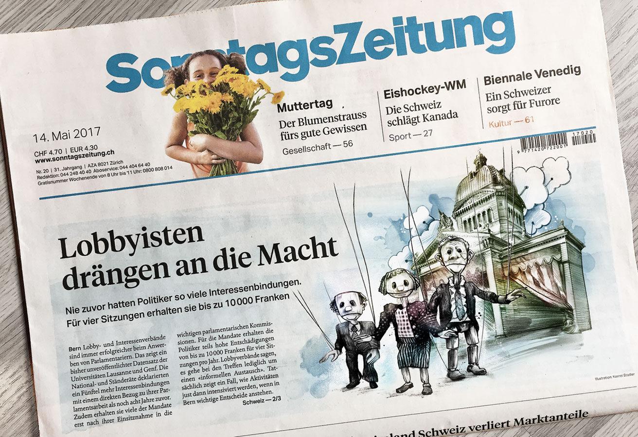 Sonntagszeitung1 - Kornel Illustration | Kornel Stadler portfolio