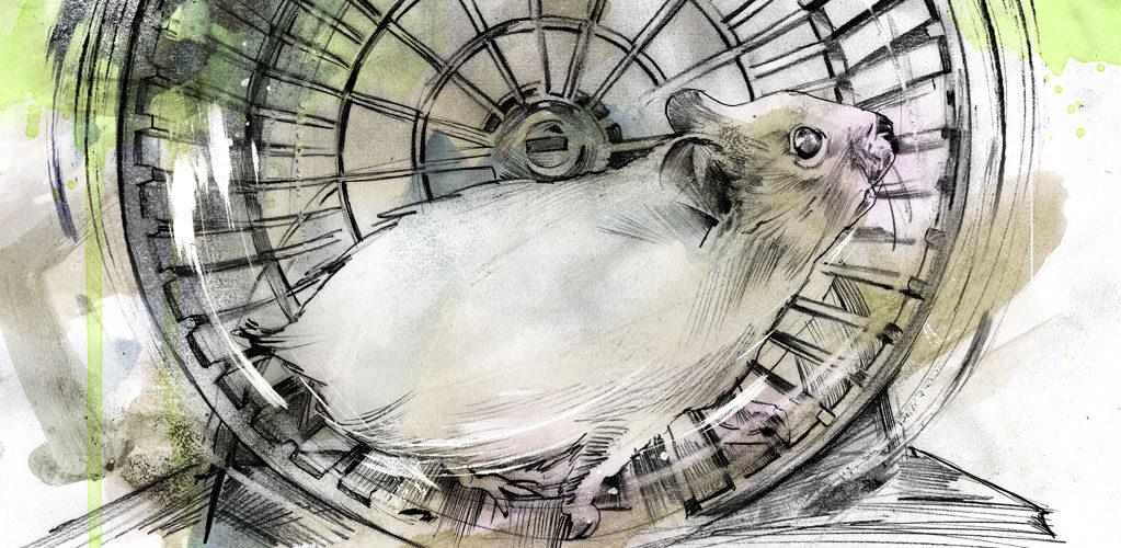 Hamsterrad - Kornel Illustration | Kornel Stadler portfolio