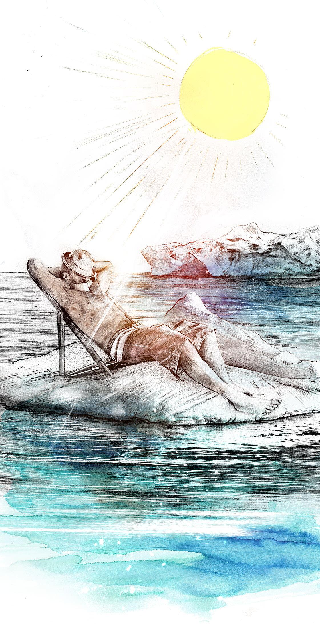 Eisscholle Klimawandel illustration - Kornel Illustration   Kornel Stadler portfolio