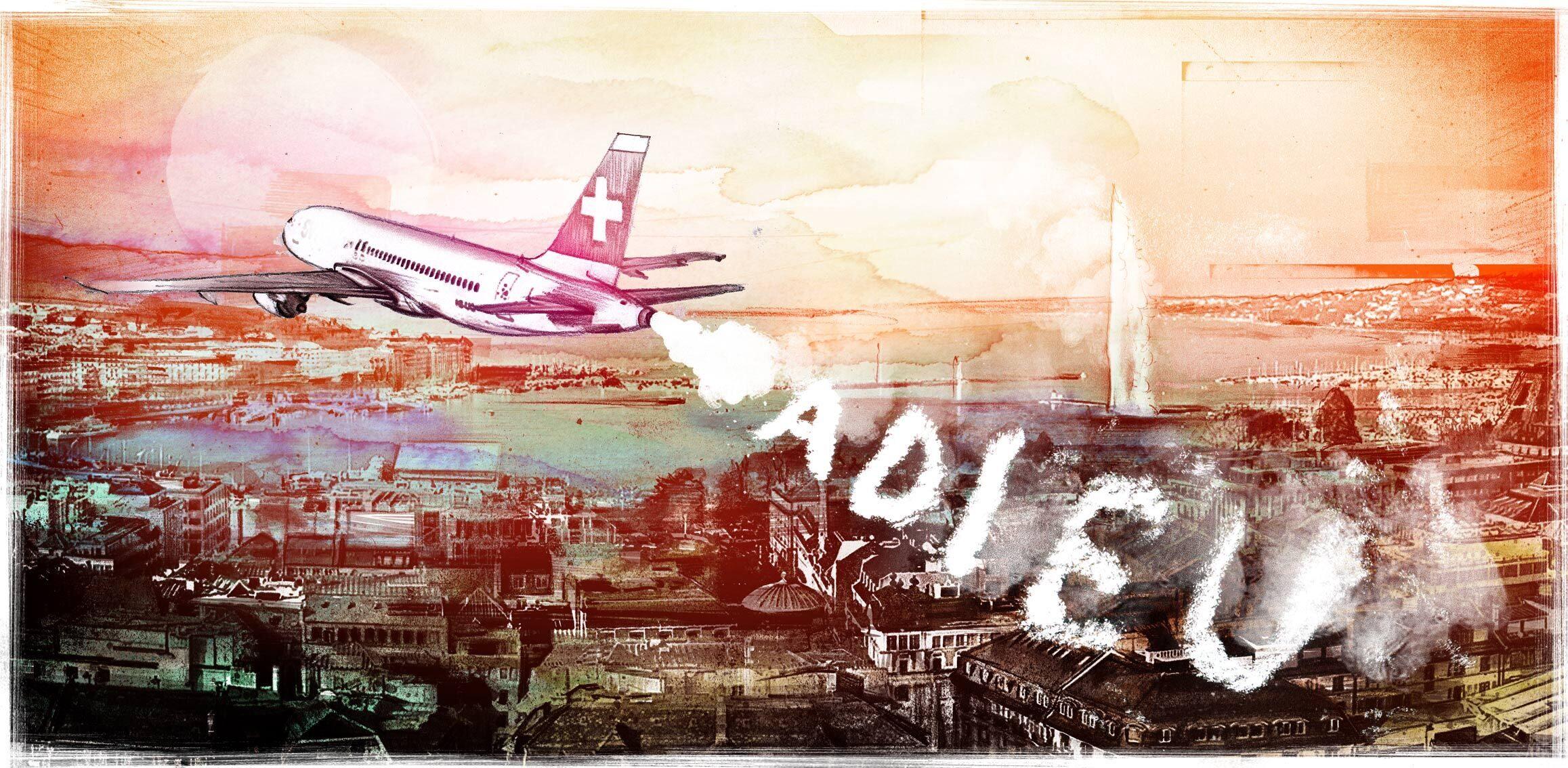 Adieu Swiss Illustration travel genf geneva - Kornel Illustration | Kornel Stadler portfolio