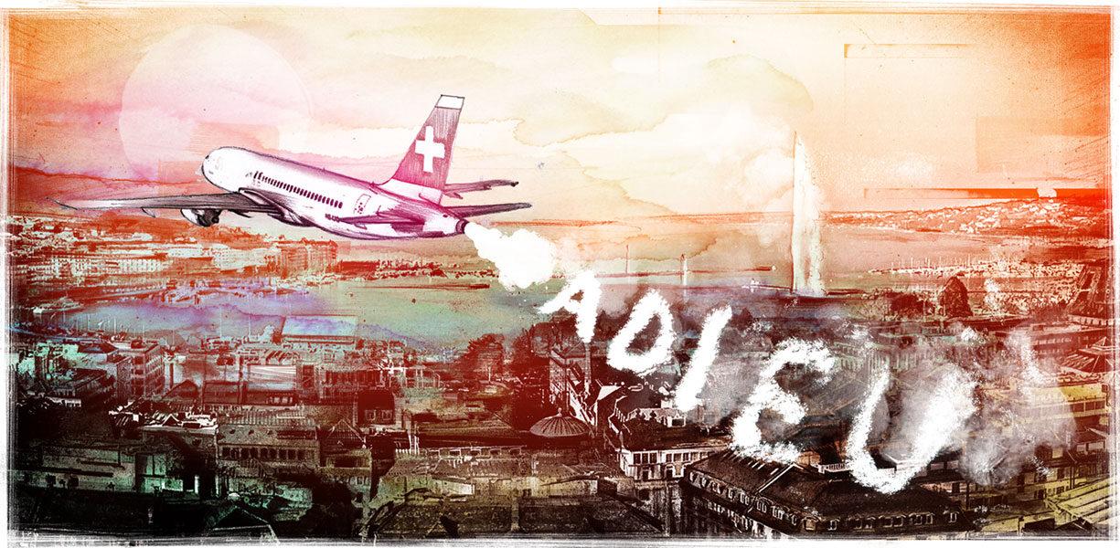 Adieu Swiss - Kornel Illustration | Kornel Stadler portfolio